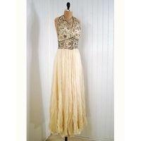 "1930's ""Madeleine Vionnet"" Jeweled Silk-Chiffon"