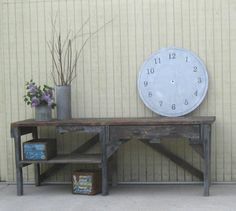 Salvaged style large metal clock face 36 inches by littleshop86, $125.00