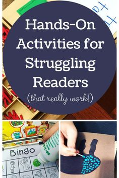 Hands-on activities have changed our entire approach to learning. For my struggling reader, it has been the best way to learn! Reading Resources, Reading Strategies, Reading Activities, Hands On Activities, Reading Skills, Reading Games, Reading Stories, Teacher Resources, Teaching Ideas
