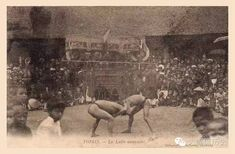 Wrestling Match in French Colonial Vietnam Tonkinese, Vietnam History, French Colonial, Hanoi Vietnam, Old Postcards, Old Photos, Wrestling, Tonkinese Cat, Antique Photos