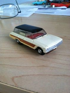 Slot Car, H.O. Aurora, AFX, T-Jet. Vintage 62 FORD COUNTRY SQUIRE WAGON