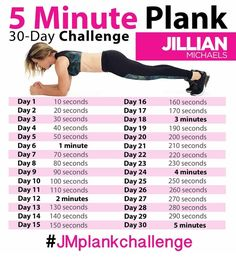 Jillian Michaels 30-Day 5 Minute Plank Challenge