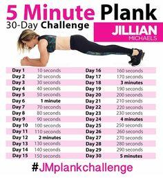 Jillian Michaels 30-Day 5 Minute Plank Challenge