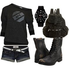 NO MATTER WHAT I WILL  GO DOWN SWINGING, created by darian-nobriga on Polyvore