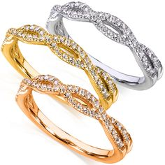 "<li>Round-cut diamond band</li> <li>14-karat white, yellow, or rose gold jewelry</li> <li> <a href=""http://www.overstock.com/downloads/pdf/2010_RingSizing.pdf""><span class=""links"">Click here for ring sizing guide</span></a></li>"