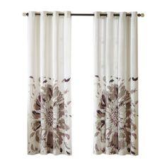 August Grove Hilda Nature/Floral Semi-Sheer Grommet Single Curtain Panel