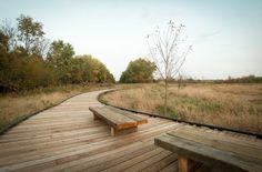 John M Craddock Wetland Nature Preserve | Design/Build Team at Ball State University under Professor Les Smith, Phil Tevis | Archinect