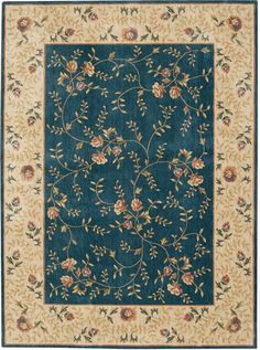 Buy the Nourison Navy Direct. Shop for the Nourison Navy Somerset x Rectangle Synthetic Power Loomed Floral Area Rug and save. D House, Navy Rug, Floral Area Rugs, Mini Things, Miniature Furniture, Signature Design, Floor Rugs, Rugs On Carpet, Green And Grey