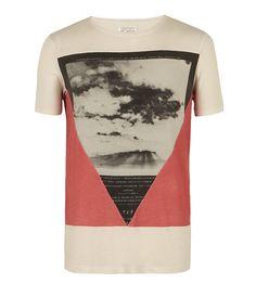 Triangle Cut Collar Crew T-shirt, Men, T-shirts, AllSaints Spitalfields $55