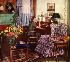 1940s living room | 1940s living room | Vintage Interiors