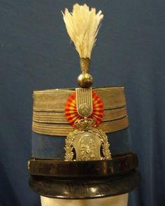 Chacó de Dragones de Montesa. Modelo 1895. Oficial