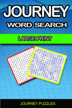 Journey word search puzzle deal pack. Fun-filled themed word search puzzles