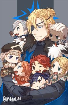 Awwww Dimitri and the others are so cute! Fire Emblem Awakening, Fire Emblem Characters, Anime Characters, Fire Emblem Games, Blue Lion, Fanarts Anime, Game Character, Anime Guys, Concept Art