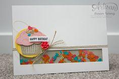 Sprinkles of Life Shaker Birthday Card ~ Susan Wong