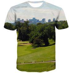 Golf T Shirts, 3d T Shirts, T Shirt Printer, City Streets, Exterior Colors, Fashion Prints, Cool Stuff, Casual, Nature