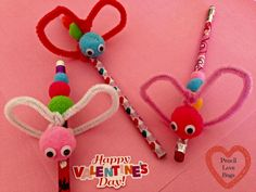 Pencil Love Bugs Valentine's Day