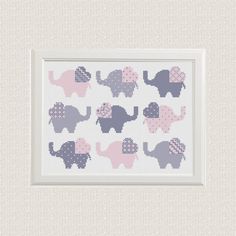 cross stitch pattern Elephant Set of 9  от AnimalsCrossStitch