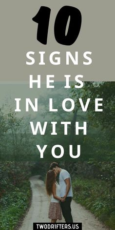 Have you ever found yourself wondering, does he love me? You are far from alone. Here are some sure signs a man IS in love with you. // Two Drifters -- #relationships #love #marriage