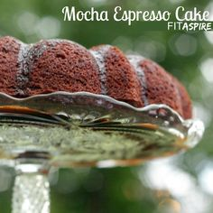 Mocha Espresso Cake Recipe - a healthier cake that's easy to make and tastes amazing! Uses applesauce for moisture to reduce calories & help you enjoy even more!!