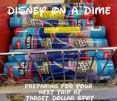 Disney on a Dime - preparing for you next trip at the Target Dollar Spot. Money saving tips and advice for your next Disney World trip. Disney Time, Disney 2017, Disney Magic, Disney Land, Disney Family, Disney Cruise, Disney Stuff, Disneyland Vacation, Walt Disney World Vacations