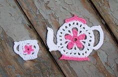 Tea Pot and Cup Applique ~ free pattern ᛡ
