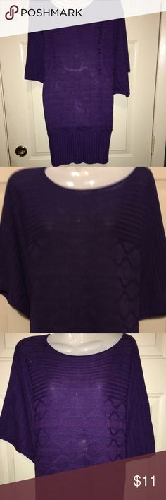 NWOT! PURPLE LONG SWEATER This beautiful long sweater has Sleeves and is perfect for between summer and fall it is made by Bailey blue and is a size medium it is 17 inches from the waist and 32 inches from the shoulders. Tops Blouses