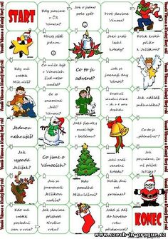 Christmas Board Game worksheet - Free ESL printable worksheets made by teachers Christmas Board Games, Holiday Games, Christmas Party Games, Christmas Activities, Christmas Projects, Ccd Activities, Merry Christmas Happy Holidays, Christmas Jesus, Christmas Holidays