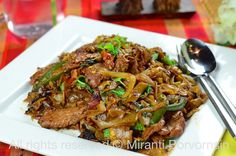 Spicy Thai Stir-Fried Drunken Noodles : Pad Kee Mao from the High Heeled Gourmet, with veg substitutes in the recipe.