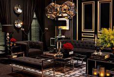 Мебель и предметы интерьера в цветах: серый, темно-зеленый, темно-коричневый, коричневый. Мебель и предметы интерьера в стилях: модерн и ар-нуво.