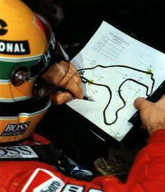 Ayrton no cockpit. GP Spa-Francorchamps,1988. .#jorgenca