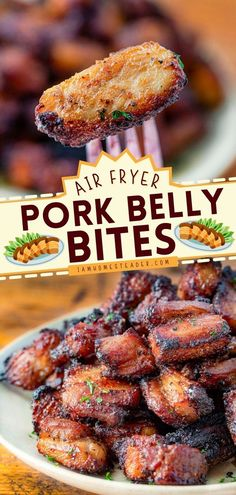 Looking for air fryer food ideas? Try this easy Air Fryer Pork Belly Bites! This easy party food recipe is crispy and juicy goodness guilt-free. You can also add this to your list of 4th of July appetizer ideas! Appetizer Ideas, Yummy Appetizers, What Is Pork Belly, Easy Recipes, Easy Meals, Pork Belly Recipes, Air Fried Food, Meal Prep For Beginners, Recipes With Few Ingredients