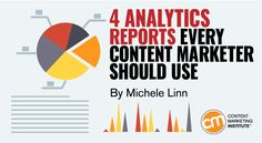 Use these four most helpful analytics reports to better inform your content marketing – Content Marketing Institute Marketing Articles, Content Marketing Strategy, Inbound Marketing, Business Marketing, Internet Marketing, Online Marketing, Mobile Marketing, Marketing Plan, Google Analytics Report