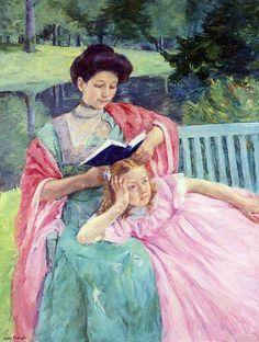 Auguste Reading To Her Daughter - Mary Cassatt (1844 – 1926)