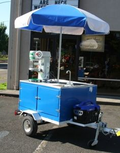 Shaved Ice Machine Carts