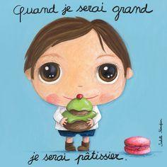 Tableau Isabelle Kessedjian Quand je serai grand je serai pâtissier Great Paintings, Love Illustration, Teaching French, When I Grow Up, Baby Art, Edd, Art Plastique, Portrait Art, Portraits