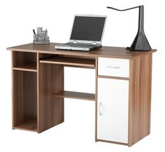 Alphason AW12363 Mercer French Walnut Effect Computer Work Station! Click to buy!