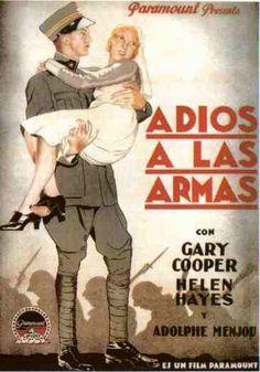 Espectacular pieza de cine bélico y romántico, Adiós a las armas es una adaptación de la novela del mismo nombre escrita por Ernst Hemingway. Narra una trágica histoira de amor entre un soldado americano (Gary Cooper) y una enfermera británica (Helen Hayes), en medio de la Primera Guerra Mundial.