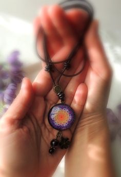 MELODY of LIFE MANDALA Purple Mandala Necklace Flower of Life Necklace Chakra Necklace Mandala Jewelry Spiritual Jewelry Mandala Art Print