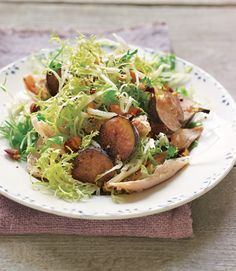 Frisée Salad with Chicken, Figs, and Almonds