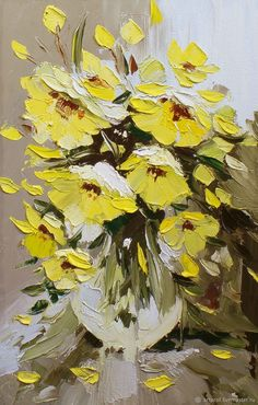 Картина маслом Весенний букет в вазе, 41х61см – купить в интернет-магазине на Ярмарке Мастеров с доставкой - F73XFRU