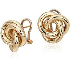 Blue Nile Oversized Love Knot Stud Earring (7 710 ZAR) ❤ liked on Polyvore featuring jewelry, earrings, accessories, gold earrings, yellow gold stud earrings, 14k earrings, 14 karat gold stud earrings and gold jewelry