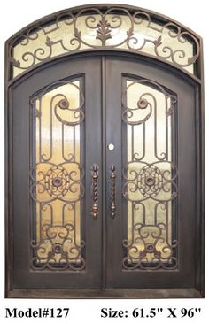 2 600 Valencia 61   In  X 96 In  Wrought Iron Entry Double DoorsWrought iron entry door   What about something like this    House  . Architectural Doors And Hardware Casper Wy. Home Design Ideas