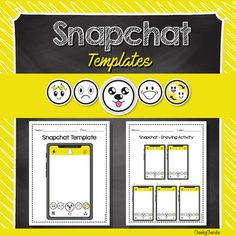 Snapchat Templates - Editable with PowerPoint by Cheeky Cherubs   TpT