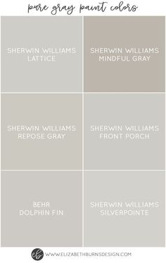 The Best Pure Grey Paint Colors I love greige walls as much as the next gal, but sometimes you just want a true gray. Not brownish, not greenish, not purplish. Just a beautiful, soft grey. It can actually be a little tricky to find a pure gray paint Greige Paint Colors, Interior Paint Colors, Paint Colors For Home, House Colors, Interior Painting, Nursery Paint Colors, Gray Wall Colors, Paint Colours, Deco Restaurant