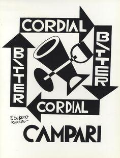 Fortunato Depero (1892-1960, Italy), Cordial Campari.