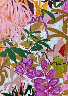 Artwork Prints, Framed Artwork, Canvas Prints, Garden Painting, Dot Painting, Floral Watercolor, Fine Art Paper, Creative Art, Art Inspo