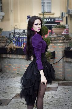Model Milena Grbovic Gothic and Amazing Victorian Goth, Gothic Steampunk, Steampunk Fashion, Gothic Outfits, Gothic Dress, Gothic Lolita, Goth Beauty, Dark Beauty, Gothic Girls
