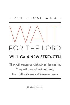 Yet those who WAIT for the Lord….   TonyEvans.org