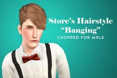 """Store's Hairstyle """"Banging"""" edited for males by Shokoninio - Sims 3 Downloads CC Caboodle"""