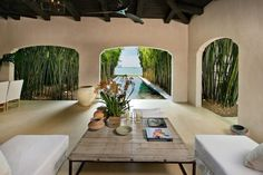 Spanish style outdoor living at Calvin Klein's home #westofmay